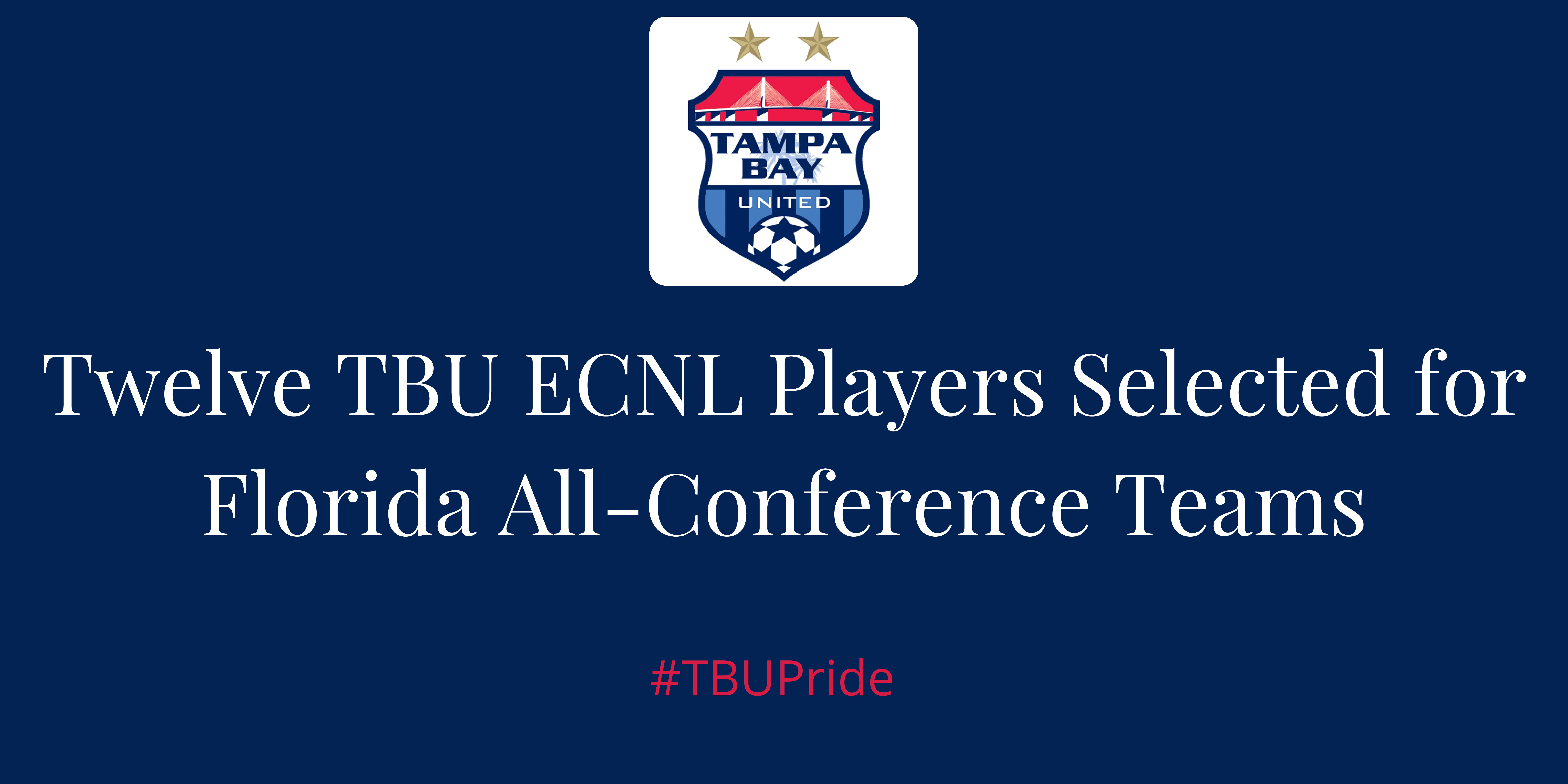 Tampa Bay United Dominate the All-Conference Team Rosters
