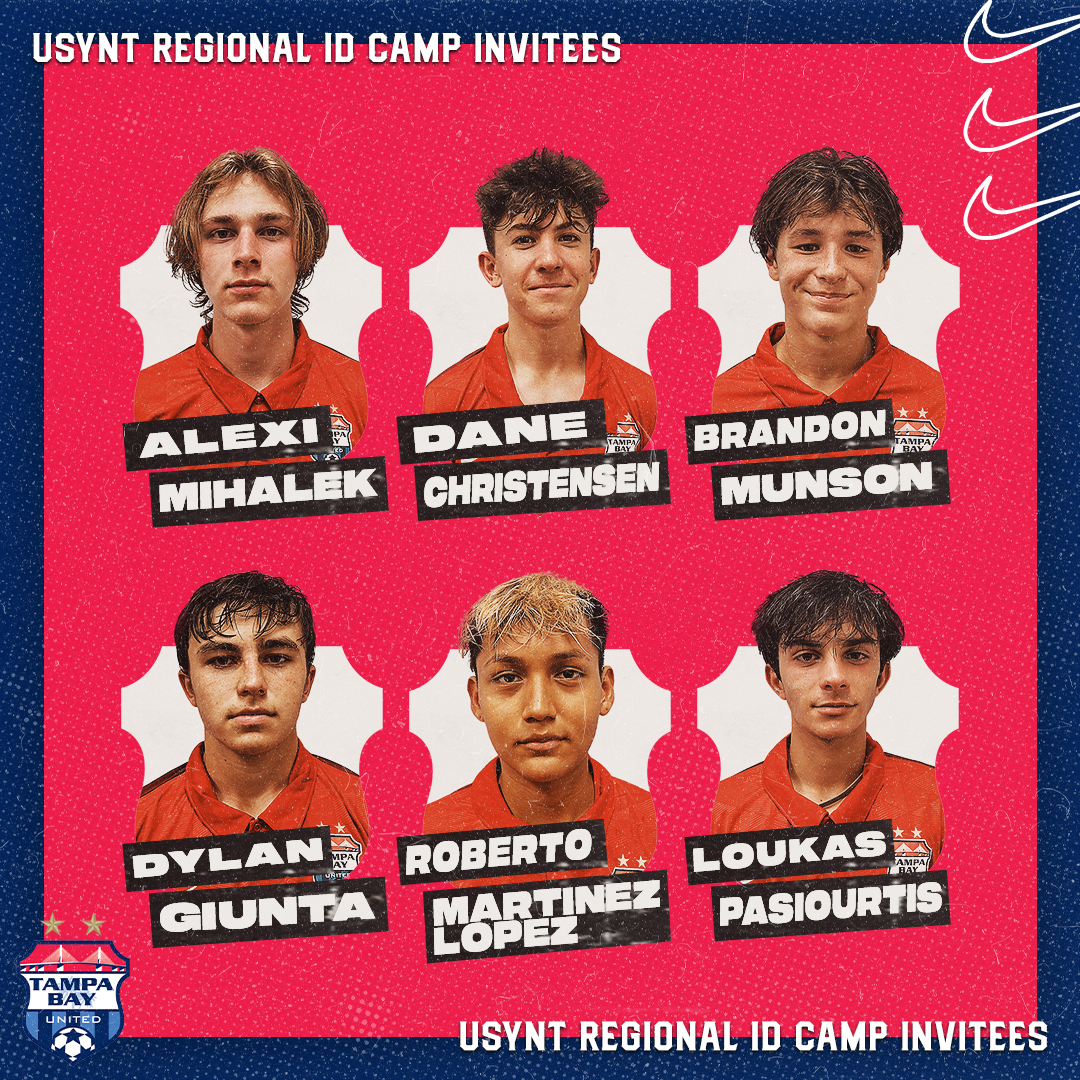 Six TBU Youth Athletes Selected for the United States Youth National Soccer Team's Identification Center